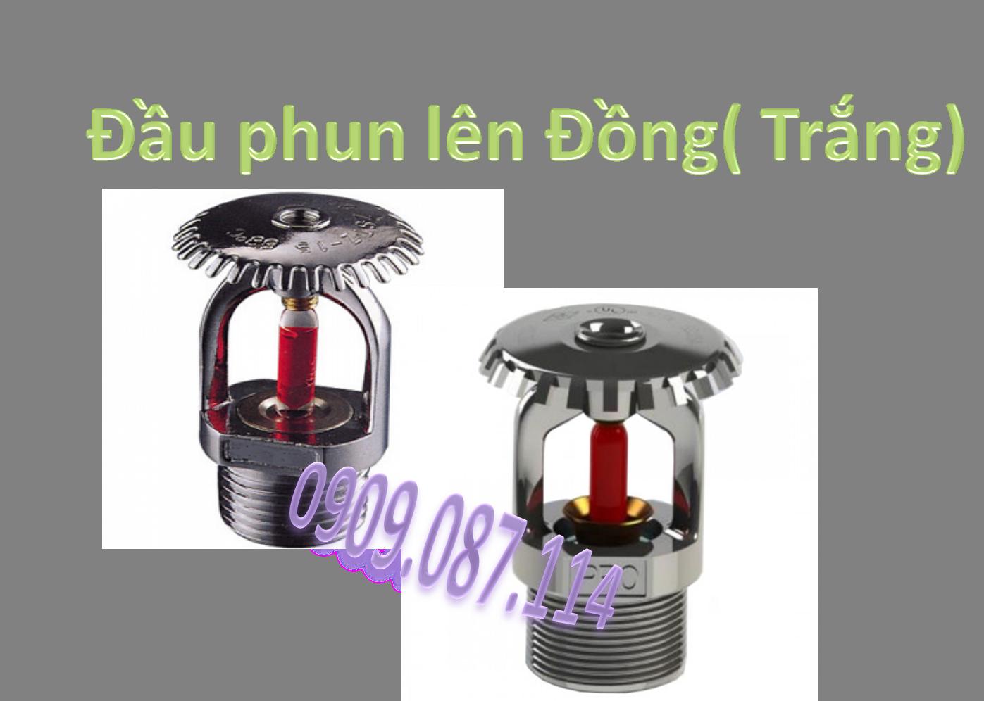 Đầu phun lên Đồng ( Trắng)