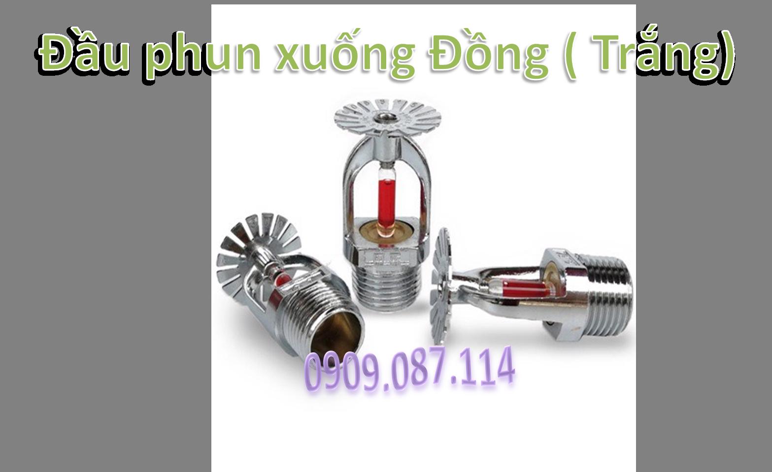 Đầu phun xuống Đồng ( Trắng)