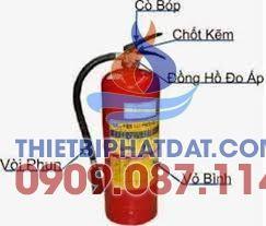 Description: Bình chữa cháy bột MFLZ4 ABC 4Kg