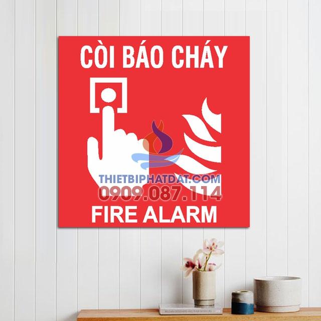 Bảng vị trí còi báo cháy (Fire Alarm) bằng mica 20x20cm