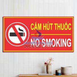 Bảng Cấm Hút Thuốc PCCC Mica (No Smoking) 15x30cm