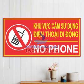 Bảng cấm sử dụng điện thoại di động (No Phone) cho cây xăng