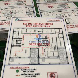 Bảng sơ đồ thoát hiểm tòa nhà bằng Mica in UV