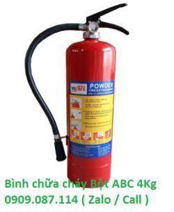 Bình bột chữa cháy xách tay bột ABC 4KG  theo thông tư 150