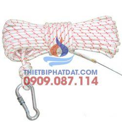 Dây cứu người (dài 30 m, sợi polyester, chống nước, chống cháy, chịu nhiệt, tải trọng 500 kg, lực kéo đứt 100 KN ) Thông tư 150