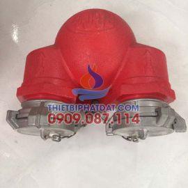 Họng tiếp nước chữa cháy D100 2 cửa ra D65