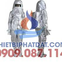 Quần áo chống cháy tráng nhôm chịu nhiệt 300 độ